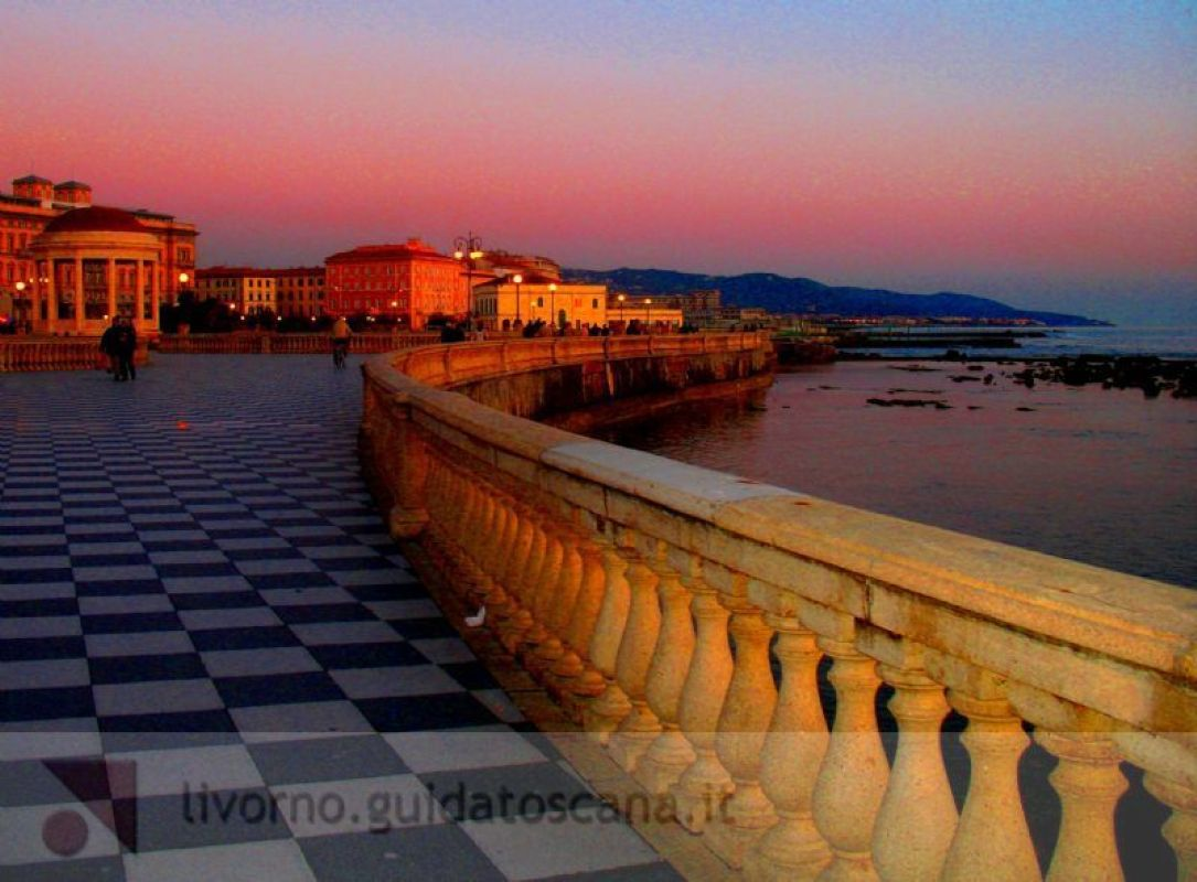 The seafront of Livorno, the coast of Livorno, Livorno ...